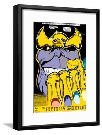 Infinity Gauntlet No.2 Headshot: Thanos-George Perez-Framed Poster