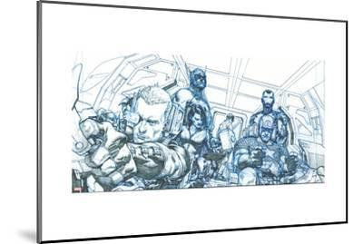 Avengers Assemble Pencils Featuring Hawkeye, Captain America, Iron Man, Thor, Black Widow--Mounted Poster