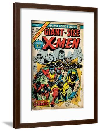Marvel Comics Retro: The X-Men Comic Book Cover No.1 (aged)--Framed Poster