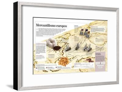 Infografía Del Mercantilismo Europeo--Framed Poster