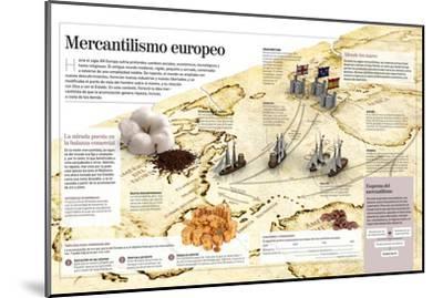 Infografía Del Mercantilismo Europeo--Mounted Poster