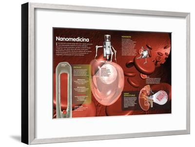 Infografía De La Nanomedicina, Utilizada Para Diagnosticar, Prevenir Y Curar a Nivel Molecular--Framed Poster