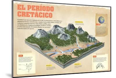 Infografía Sobre El Período Cretácico, (Mesozoico,). Se Originaron Las Flor--Mounted Poster