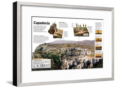 Infografía Sobre Capadocia (Turquía), Una Meseta Árida Con Formaciones Geológicas Únicas--Framed Poster