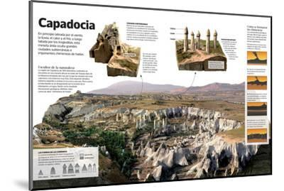 Infografía Sobre Capadocia (Turquía), Una Meseta Árida Con Formaciones Geológicas Únicas--Mounted Poster
