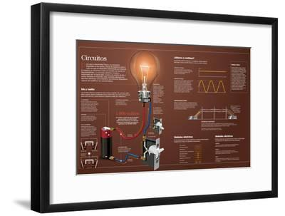 Infografía Sobre Los Circuitos Eléctricos--Framed Poster