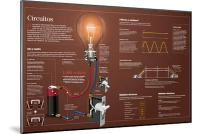Infografía Sobre Los Circuitos Eléctricos--Mounted Poster