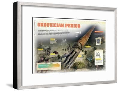 Infographic About the Ordovician Period, Palaeozoic Era, and its Sea Fauna--Framed Poster