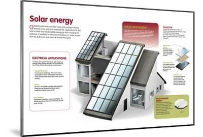 Infographic About the Use of Solar Power to Generate Electricity and Heat at a Domestic Level--Mounted Poster