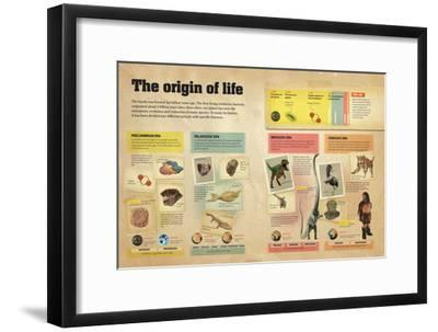 Infographic About the Different Geological Eras in the Creation and Evolution of Life on Earth--Framed Poster