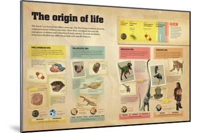 Infographic About the Different Geological Eras in the Creation and Evolution of Life on Earth--Mounted Poster