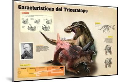 Infografía Sobre Algunas De Las Características Del Triceratops--Mounted Poster