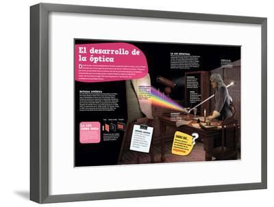 Infografía Sobre La Óptica, Su Evolución Desde La Antigüedad Hasta El Siglo--Framed Poster
