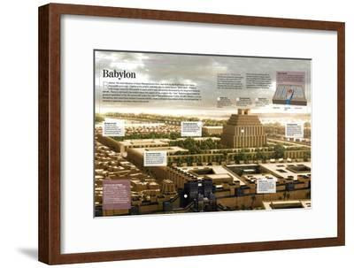 Infographic About Babylon (12th Century BC), Religious Capital of the Mesopotamian Empire--Framed Poster