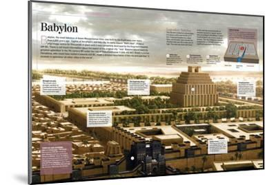 Infographic About Babylon (12th Century BC), Religious Capital of the Mesopotamian Empire--Mounted Poster