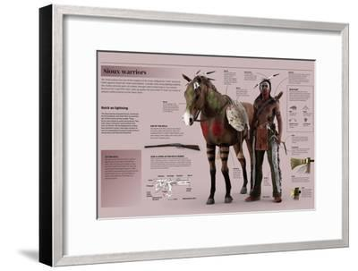 Infographic on Experienced Sioux Warriors--Framed Poster