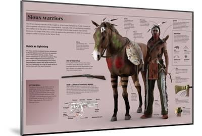 Infographic on Experienced Sioux Warriors--Mounted Poster