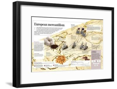 Infographic About European Mercantilism Developed from the Renaissance Based in Colonialism--Framed Poster