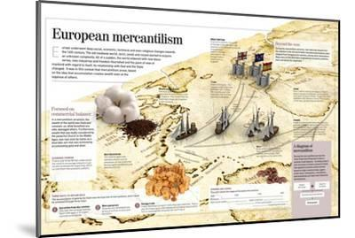 Infographic About European Mercantilism Developed from the Renaissance Based in Colonialism--Mounted Poster