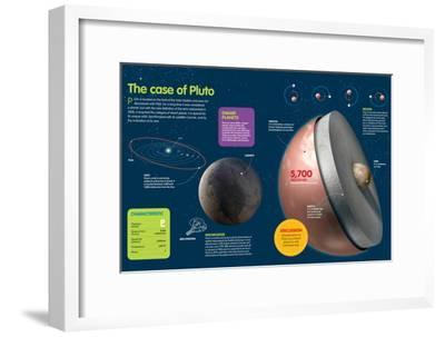 Infographic About Planet Pluto, in the Outer Limit of the Solar System--Framed Poster