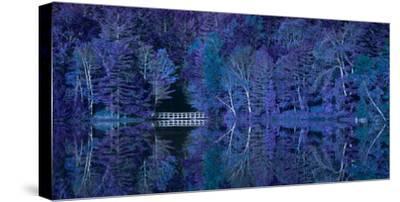 Vermont Bridge Fantasy Pano-Steven Maxx-Stretched Canvas Print