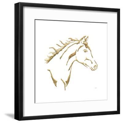 Gilded Filly On White-Chris Paschke-Framed Art Print