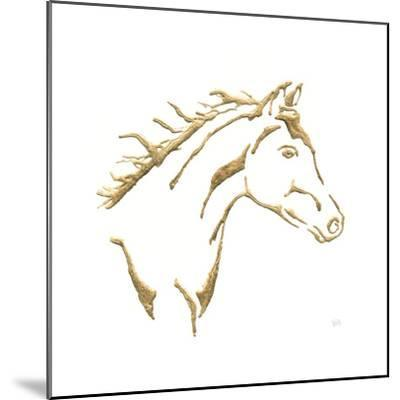 Gilded Filly On White-Chris Paschke-Mounted Art Print