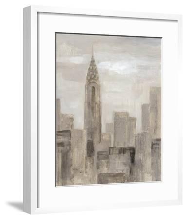 City Blocks I Greige-Silvia Vassileva-Framed Art Print