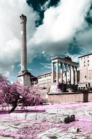 Dolce Vita Rome Collection - Antique Ruins Rome II-Philippe Hugonnard-Framed Photographic Print