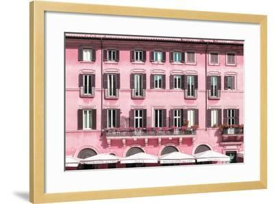 Dolce Vita Rome Collection - Building Facade Pink-Philippe Hugonnard-Framed Photographic Print