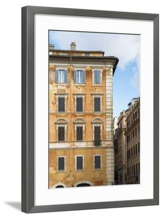 Dolce Vita Rome Collection - Orange Buildings Facade II-Philippe Hugonnard-Framed Photographic Print