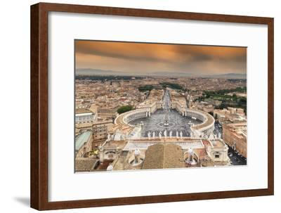 Dolce Vita Rome Collection - The Vatican City at Sunset-Philippe Hugonnard-Framed Photographic Print