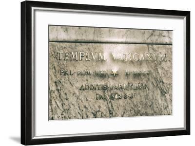 Dolce Vita Rome Collection - Templvm Vaticanvm-Philippe Hugonnard-Framed Photographic Print