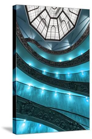 Dolce Vita Rome Collection - Turquoise Vatican Staircase-Philippe Hugonnard-Stretched Canvas Print