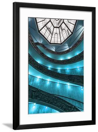 Dolce Vita Rome Collection - Turquoise Vatican Staircase-Philippe Hugonnard-Framed Photographic Print