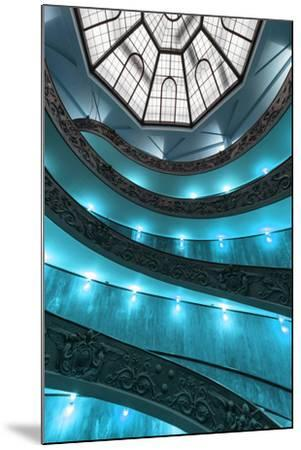 Dolce Vita Rome Collection - Turquoise Vatican Staircase-Philippe Hugonnard-Mounted Photographic Print