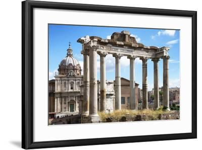 Dolce Vita Rome Collection - Roman Columns Rome-Philippe Hugonnard-Framed Photographic Print