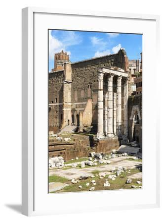 Dolce Vita Rome Collection - Antique Ruins Rome IV-Philippe Hugonnard-Framed Photographic Print