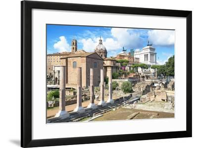 Dolce Vita Rome Collection - Antique Ruins Rome III-Philippe Hugonnard-Framed Photographic Print