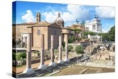 Dolce Vita Rome Collection - Antique Ruins Rome III-Philippe Hugonnard-Stretched Canvas Print