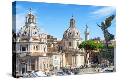 Dolce Vita Rome Collection - The City of the Italian Angels-Philippe Hugonnard-Stretched Canvas Print