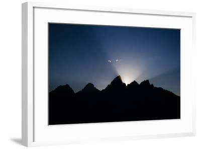 Teton Range At Sunset, Grand Teton National Park, Wyoming, USA-Jay Goodrich-Framed Photographic Print