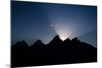Teton Range At Sunset, Grand Teton National Park, Wyoming, USA-Jay Goodrich-Mounted Photographic Print