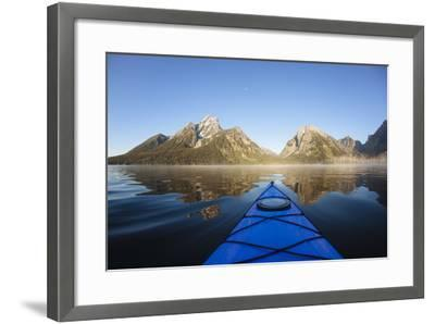 Sea Kayaking Jackson Lake In Grand Teton National Park, WY-Justin Bailie-Framed Photographic Print