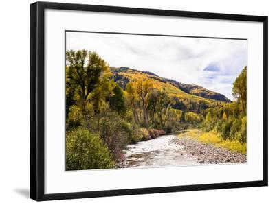 Dolores River, Colorado, USA: The River With Prime Fall Colors-Axel Brunst-Framed Photographic Print