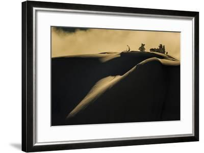 Skier Pulls Skins For Another Run In The Cascade Backcountry During A Winter Storm-Jay Goodrich-Framed Photographic Print