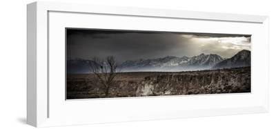 A Winter Storm Descends On The Owen Valley Near Bishop California-Jay Goodrich-Framed Photographic Print