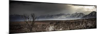 A Winter Storm Descends On The Owen Valley Near Bishop California-Jay Goodrich-Mounted Photographic Print