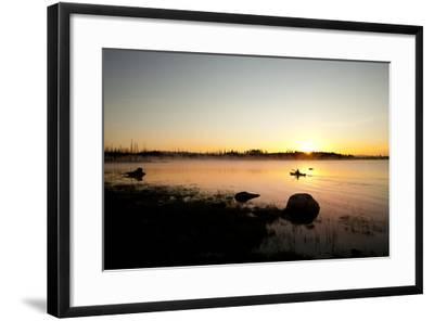 Kayaking Jackson Lake In Grand Teton National Park, WY-Justin Bailie-Framed Photographic Print