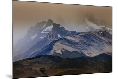 A Storm Over The Peaks Near Mount Fitz Roy In Los Glacieres National Park, Argentina-Jay Goodrich-Mounted Photographic Print